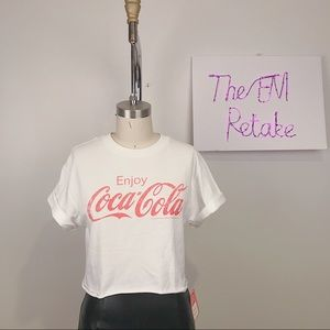 2 For 20 🌈 Vintage Coca Cola Crop Top size M